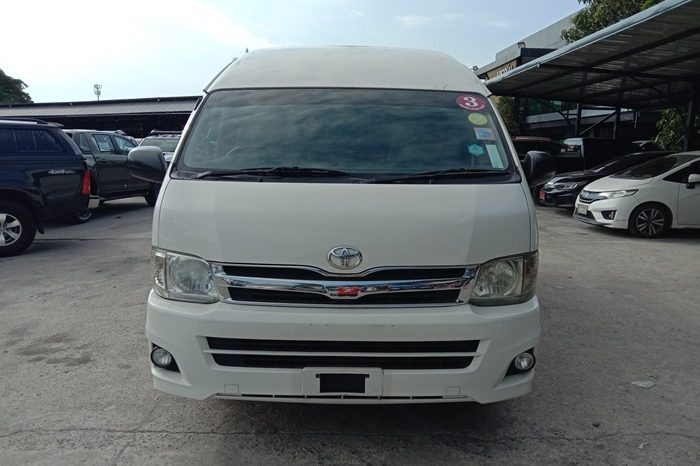 2014 – TOYOTA 2WD 2.5 MT COMMUTER WHITE – 7586 full